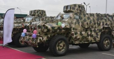 B'HARAM FIGHT: Army unveils mine resistant vehicles made in Nigeria