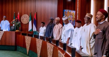 New ministers hold first FEC meeting with Buhari