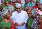 Buhari with the women