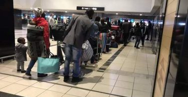 Nigerians at airport