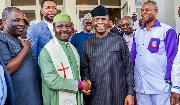 Osinbajo with can leaders today