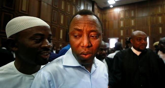 Sowore pleads not guilty to charges of treason, remanded in DSS custody