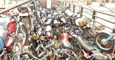 confiscated motorcycles in lagos
