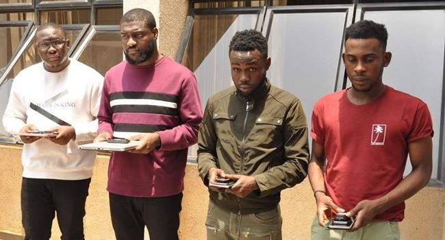 EFCC arrests four cybercrime suspects in Abuja
