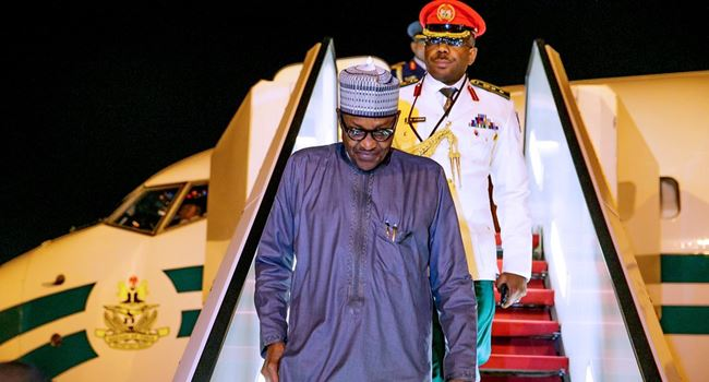 Buhari returns to Abuja from New York