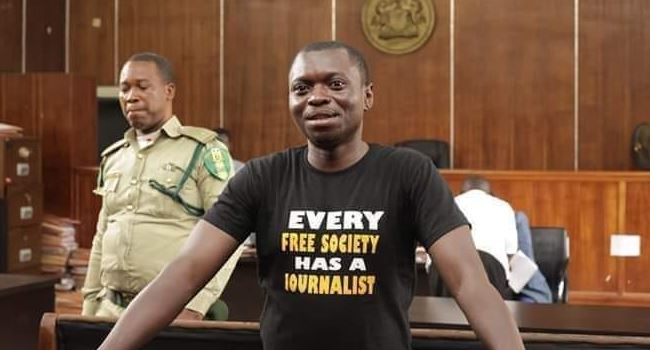 Journalist Jalingo to remain in detention another 5 days as prosecutor asks for adjournment of case
