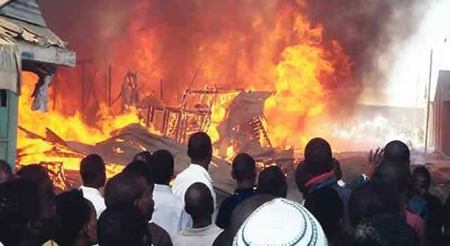 Fire razes multi-storey building on Lagos Island