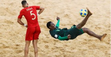 sand eagles at Beach soccer world cup