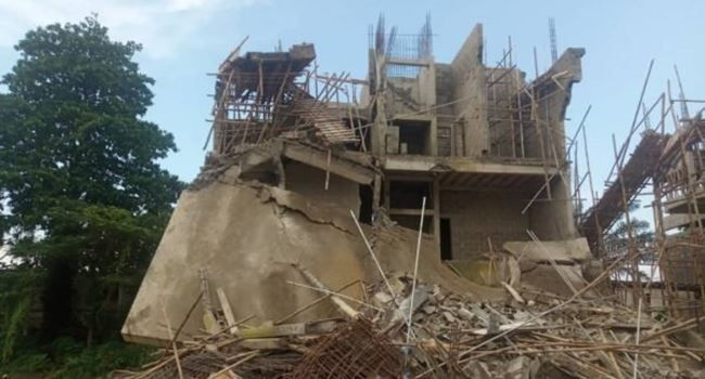1 feared killed, 4 labourers injured as 2-storey building collapses in Ikoyi