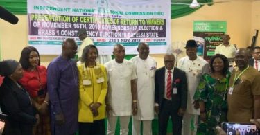 Bayelsa gov-elect, deputy get certificates of return