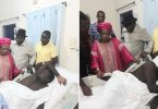 Jonathan, wife visit soldier wounded during attack on his country home