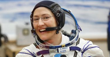 U.S. female astronaut sets record for longest space flight by a woman