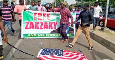 Pro-Iran Shiites in Nigeria burn US flags