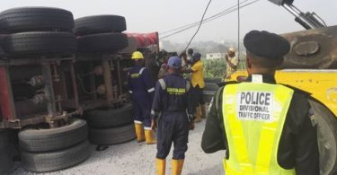 Two die as truck rams into SUV on Otedola Bridge
