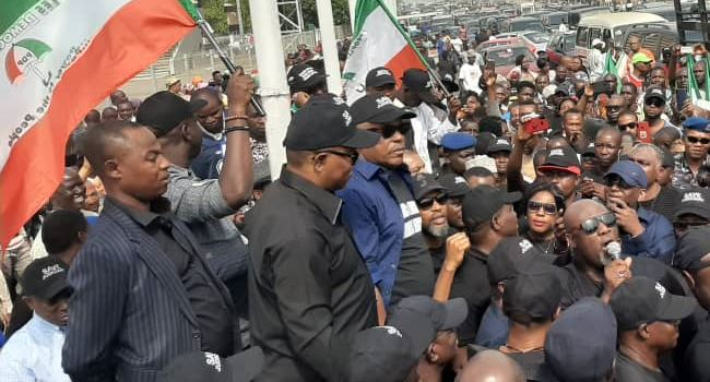 SUPREME COURT RULING: Hoodlums disrupt PDP protests in Abuja