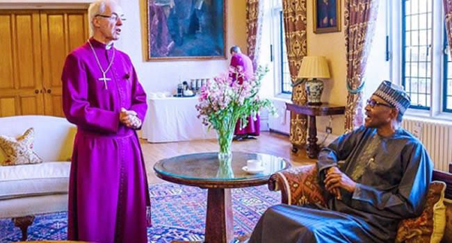 Buhari's friend Archbishop of Canterbury says murder CAN leader an attack on Christians