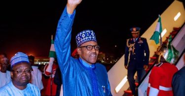 PMB returns to Nigeria from London