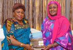 Patience Jonathan visits Aso Rock, holds discussions with Aisha Buhari