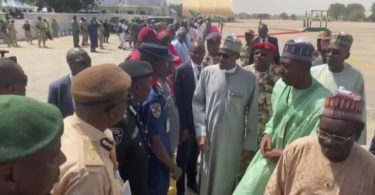 Buhari in Maiduguri for condolence visit over Auno massacre