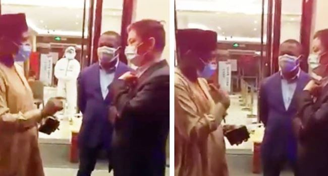 Nigeria's Consul General in China confronts Chinese officials over alleged maltreatment of Nigerians (Video)