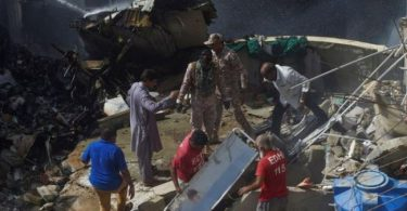 Pakistan passenger plane crash into residential area