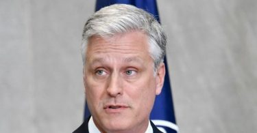 US National Security Adviser Robert O'Brien
