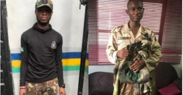 2 fake soldiers nabbed for murder of police sergeant