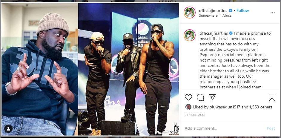 J. Martins wades into face-off between Cynthia Morgan & ex-manager, Jude Okoye