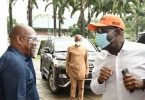 Embattled Gov Obaseki visits Gov Wike in Port Harcourt