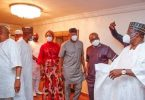 Senators disregard social distancing as they visit Orji Kalu who just returned from prison