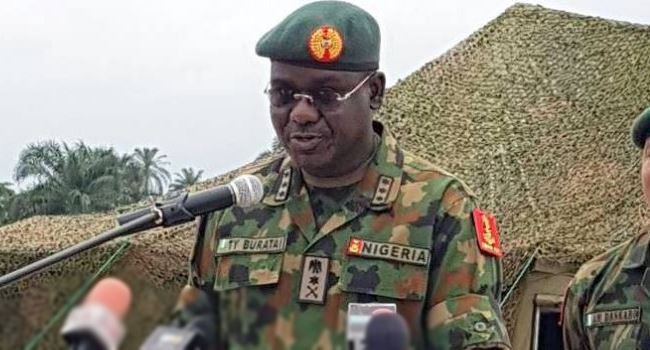 Amid unending calls for their sack, Buratai says service chiefs haven't disappointed Buhari, Nigerians