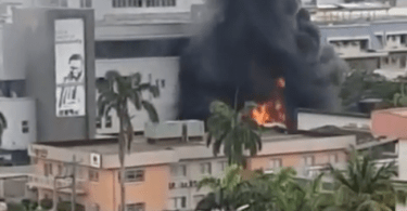 Fuel tanker sparks fire at Access bank branch