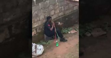 Police begins probe into viral video of policeman smoking shisha in uniform