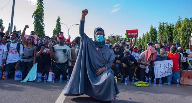 Activist, Aisha Yesufu, urges #EndSARS protesters not to back down