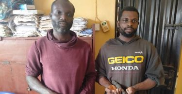 Two suspected kidnappers arrested for abducting 25-yr-old lady, killing her mother