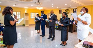 Sanwo-Olu swears in judicial panel on police brutality