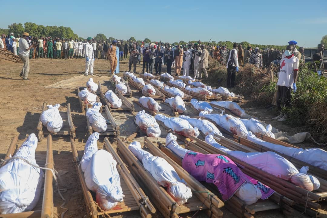 IMG 4820 43 rice farmers killed by Boko Haram in Borno buried (Photos)