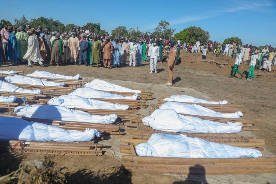 IMG 4821 43 rice farmers killed by Boko Haram in Borno buried (Photos)