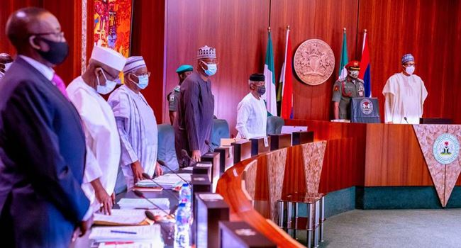 Buhari presides over first FEC meeting in 2021, swears in CCB members