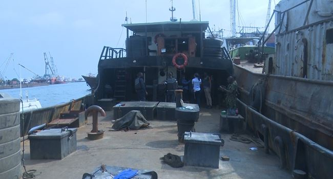 Five suspected illegal oil dealers, vessel arrested in Lagos