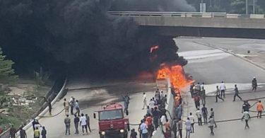 Lagos govt. shutdown Airport bridge after tanker explosion