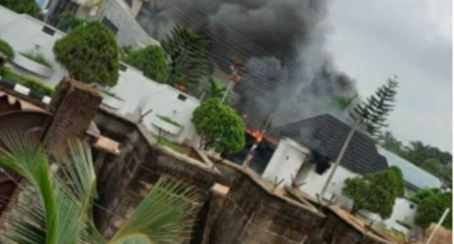 Gunmen set Gov Uzodinma's house on fire (Video)