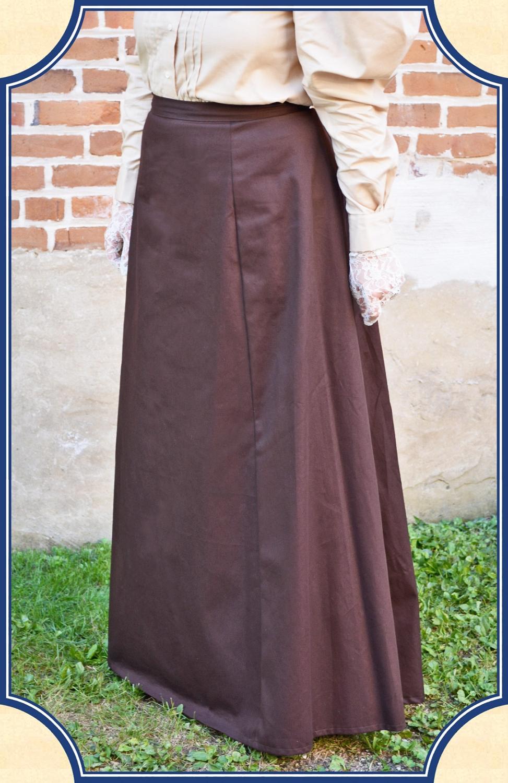 Brown Twill Victorian Walking Skirt Heirloom Brand