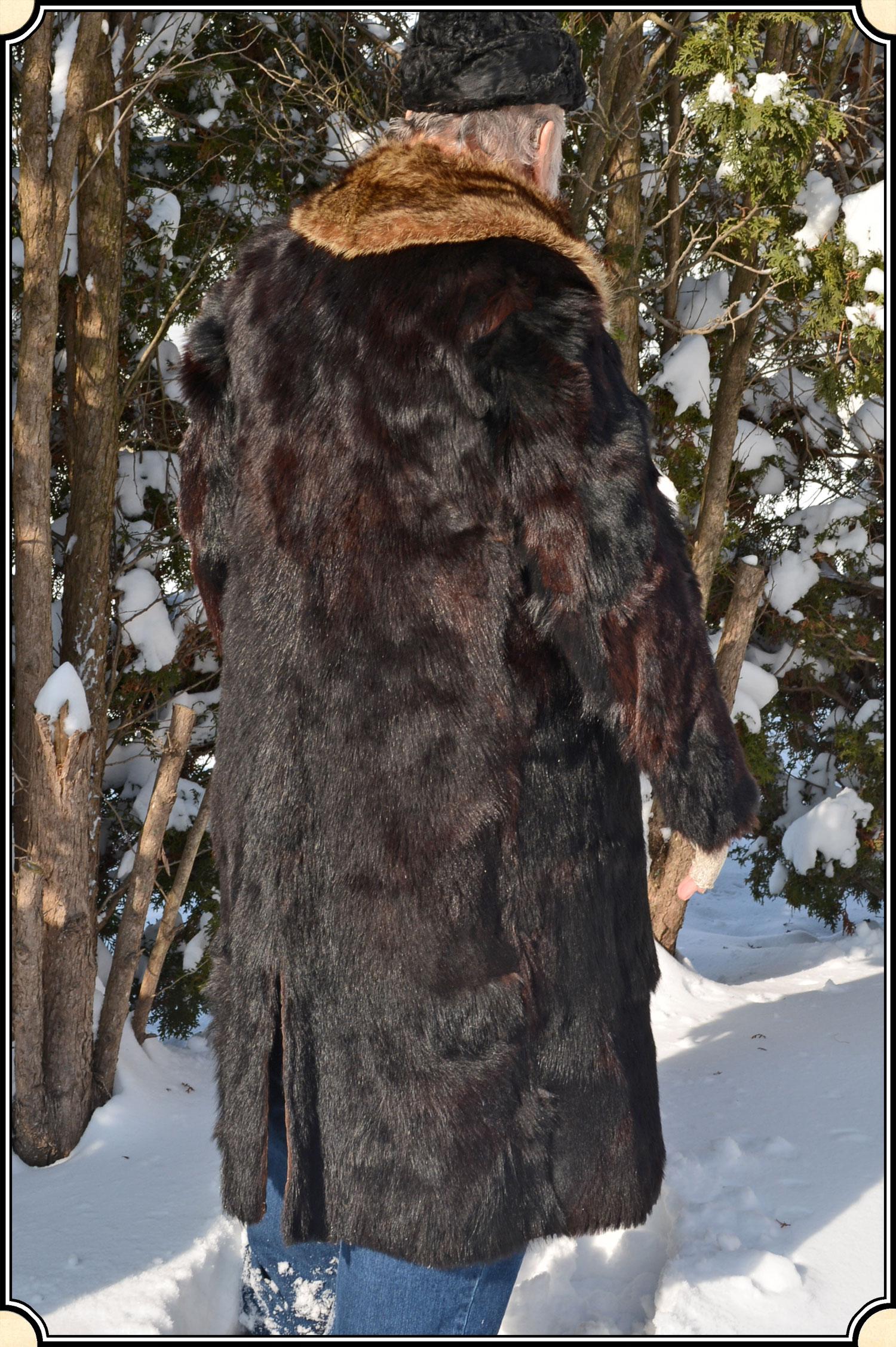 Z Sold Black Bear Hide Coat