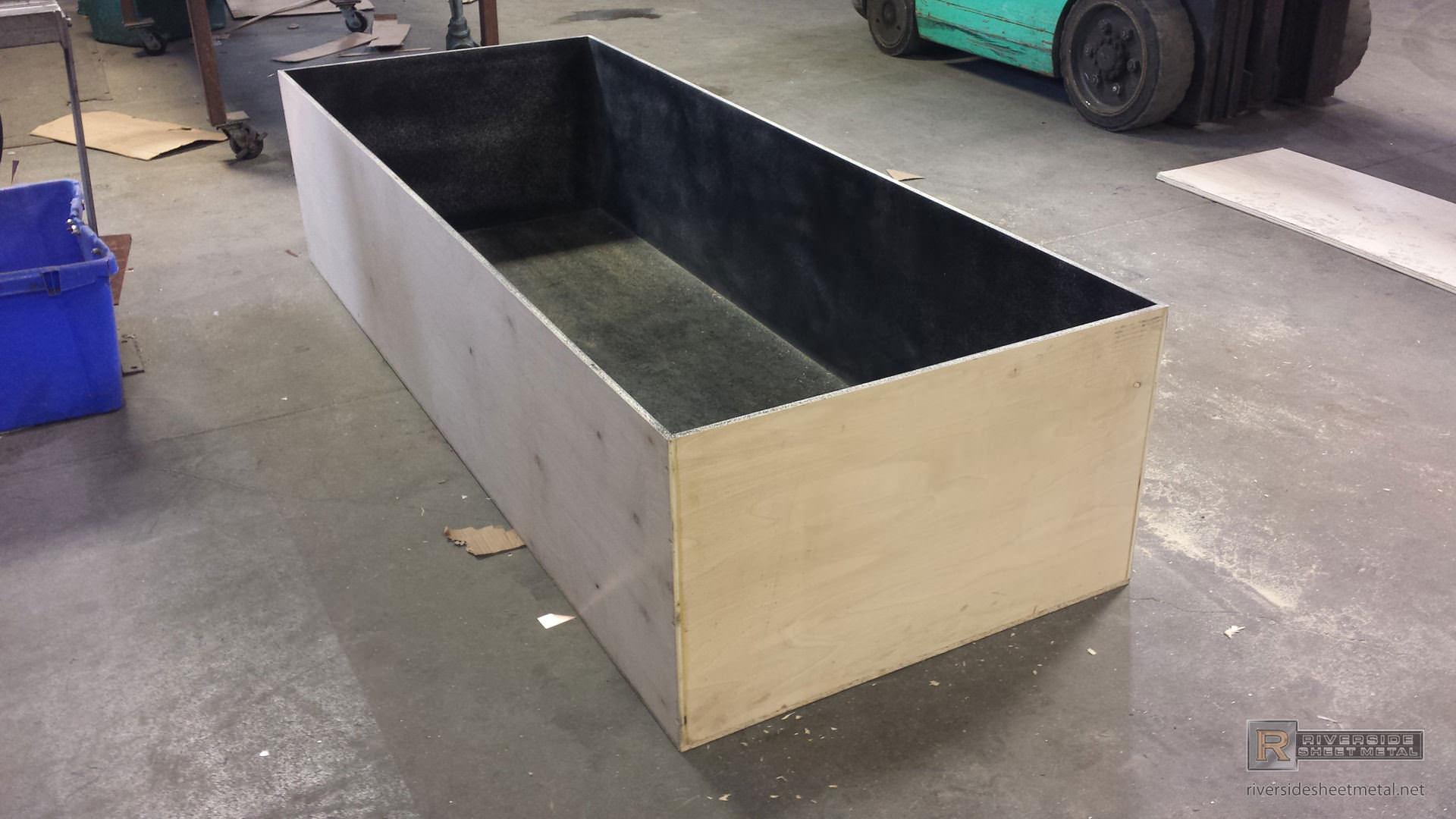 Box Metal Planter Corrugated