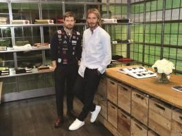 David Beckham & Daniel Kearns at the Kent & Curwen Store Opening Event.