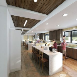 Kitchen rendering inside new Ronald McDonald House
