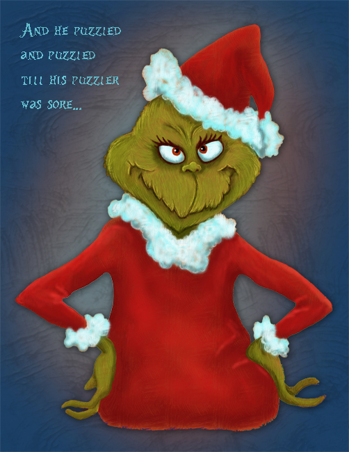 Sore Puzzled Grinch His Puzzler Till Was
