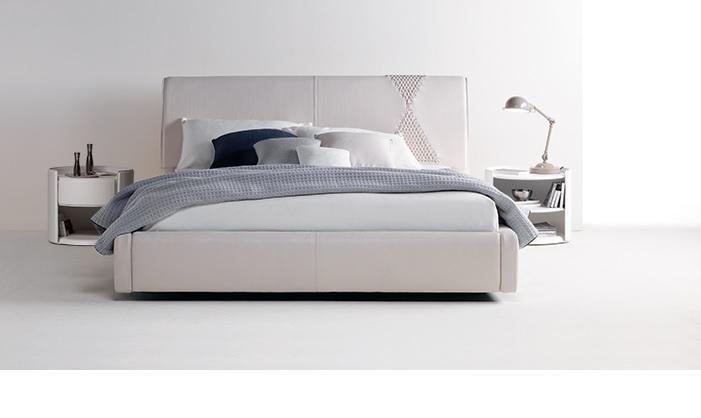 Zani Onda Italian Designer Leather Bed Aniline Extra Big