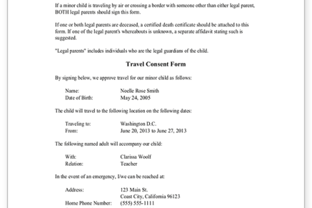 Sample consent letter for children travelling abroad with one parent children travelling abroad with one parent fresh legal resume template minor children travel consent letter how to write letter of consent with altavistaventures Images